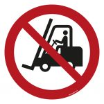 No Access for Forklift Trucks